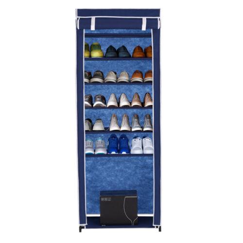 7 Schicht Schuhregal Schuhschrank Schuhablage für 10 Paar Schuhe Stoff Grau K8L8