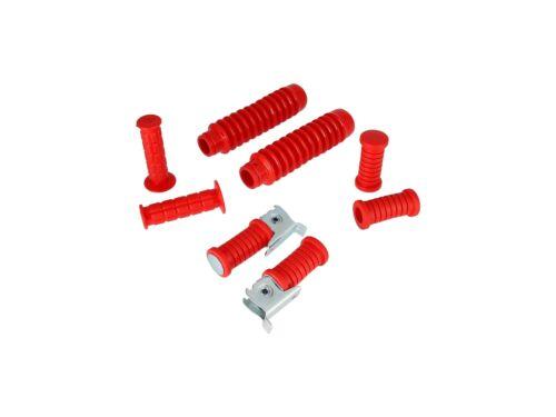 s51 s5 Soufflets en rouge-pour SAMSON s50 s70 Set: Guidon Poignées repose pied