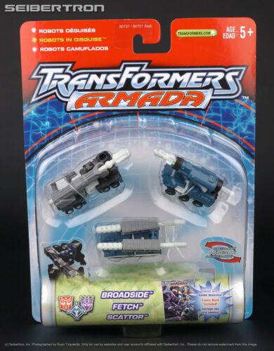 Night Attack Mini-Con Team BROADSIDE FETCH SCATTOR Transformers Armada New