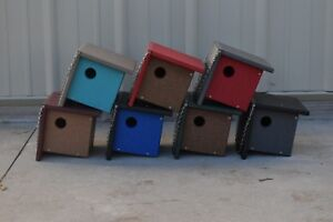 Poly Wood Wren House, a Birdhouse for a list of other Birds Choose Your Color