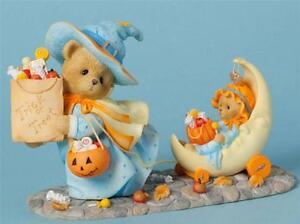 Cherished-Teddies-Connie-amp-Annie-Halloween-Limited-to-1000-Pieces-Worldwide