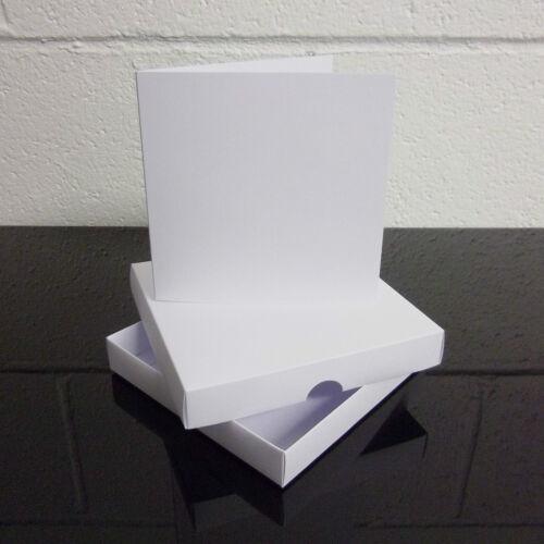 "5/"" x 5/"" White Greeting Card Box Wedding Invite Box With Card Blanks Choose Qty"