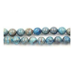 Pcs Gemstones DIY Jewellery Making Crafts Cracked Agate Round Beads 8mm Blue 45