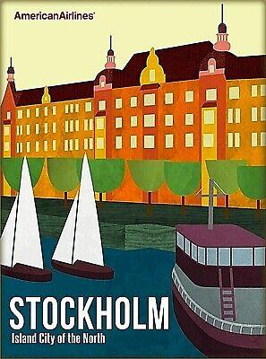 Skansen Zoo Museum Stockholm Sweden Scandinavia Vintage Travel Poster Print