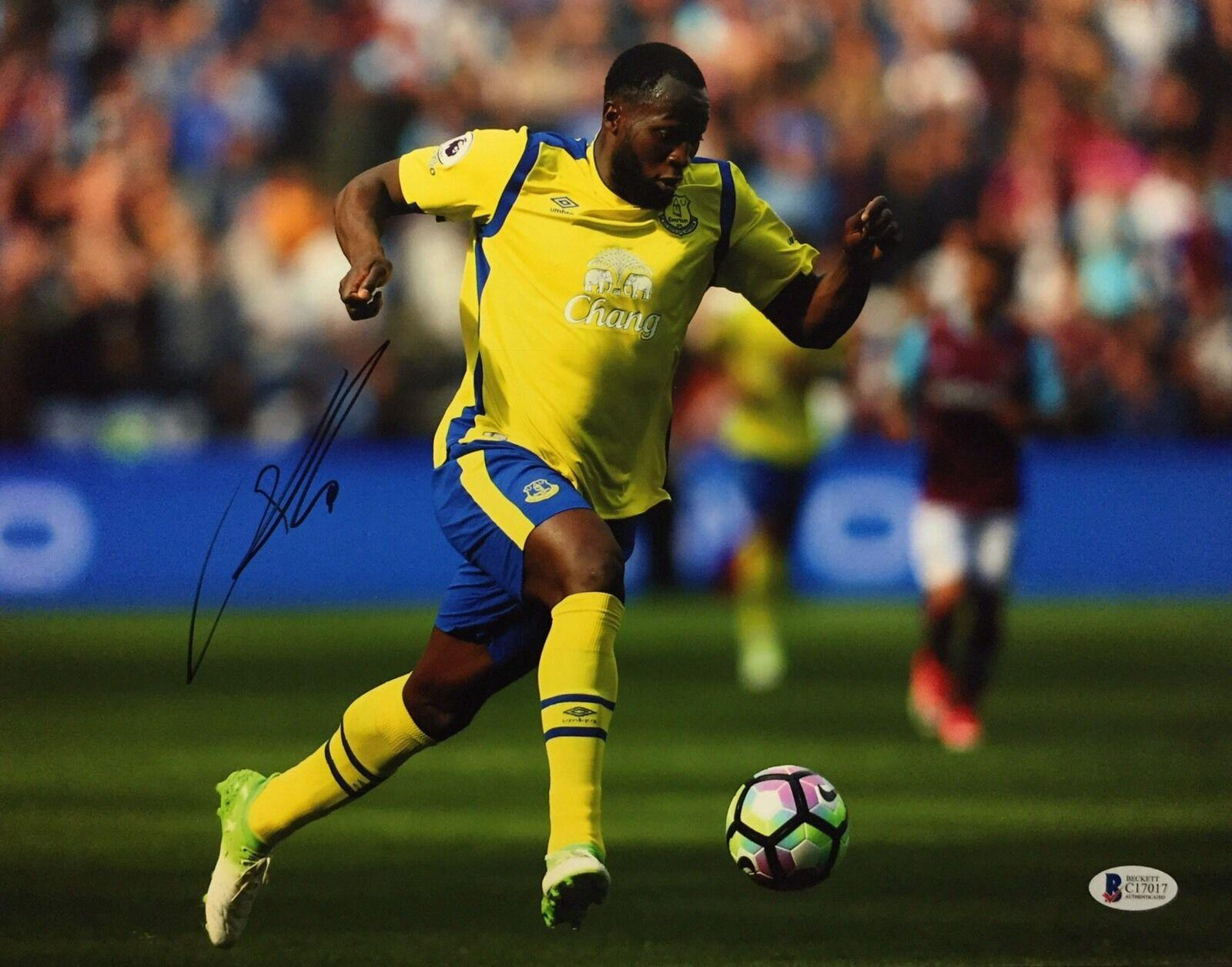 Romelu Lakaku Signed Soccer 11x14 Photo *Belgium *Manchester United BAS C17017