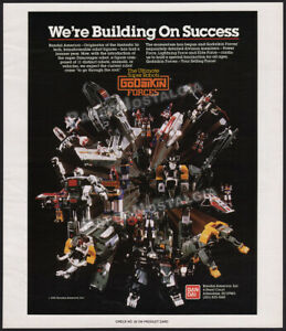 GODAIKIN Forces__Original 1985 Trade print AD / Bandai promo ADVERTISEMENT