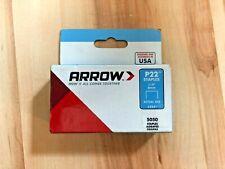 Arrow Fastener  224 5 Pack 1//4in P22 Plier Type Staples 5050//Box Arrow Fastener Inc