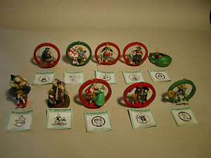 CHRISTMAS NORMAN ROCKWELL ORNAMENT COLLECTION DANBURY MINT WITH ...