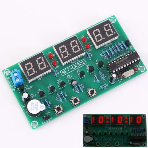 6 Bits DC 6V-12V Led Electronic Clock Module Alarm Clock Countdown Stopwatch