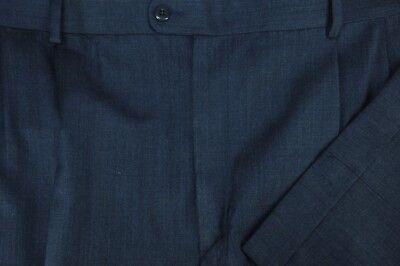 100% Vero Zanella Bennett Uomo Blu Tutta La Stagione Lana Vestito Pieghettato Pantaloni Merci Di Alta Qualità