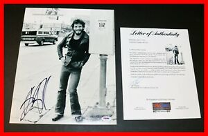 Bruce-Springsteen-Autographed-SIGNED-11x14-Picture-Photo-Poster-PSA-JSA