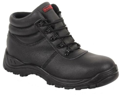 BlackRock ® Calce Ancho para Hombre Impermeable Chukka Botas De Trabajo De Seguridad Acero Cuero S3 Wr