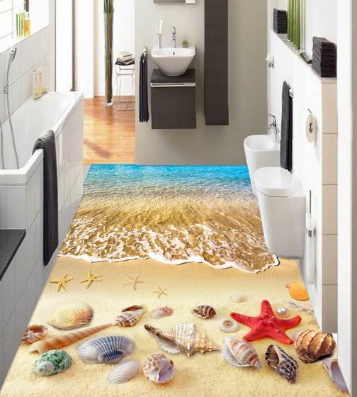3D ROT Starfish Beach 89 Floor WallPaper Murals Wall Print Decal AJ WALLPAPER US