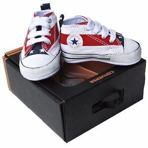 Dettagli su Converse all First Star Baby Chucks UE 20 UK 4 BIANCO WHITE  86421 krabbelschuhe- mostra il titolo originale