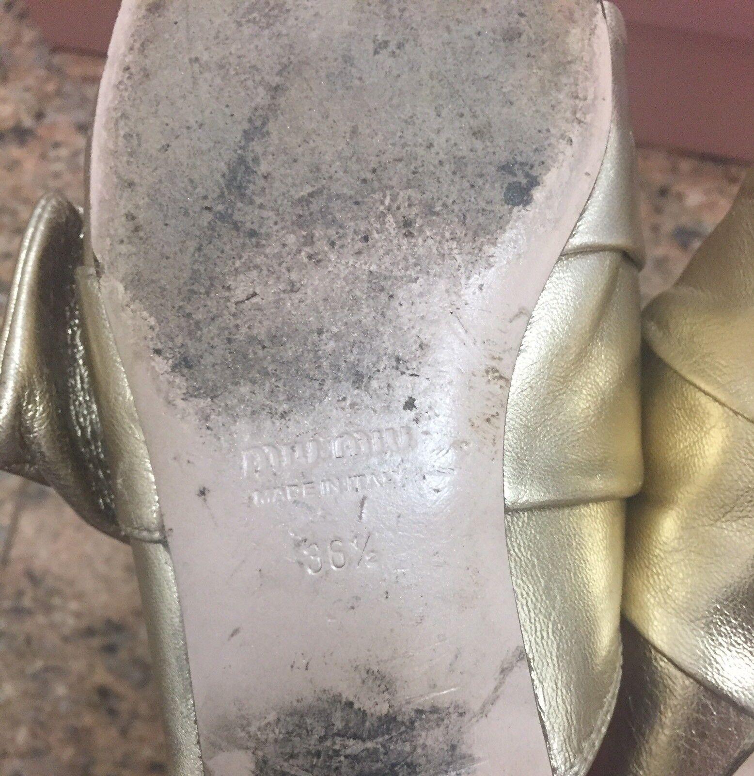 Miu Miu gold Leather Crystal Mules Size EU EU EU 36.5 02b63b