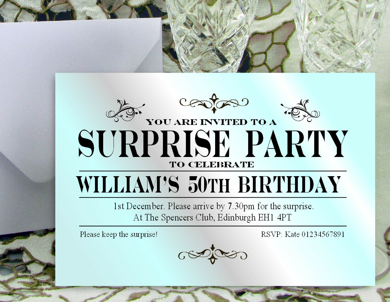 80 PARTY 60th INVITATIONS PERSONALISED 18th 21st 30th 40th 50th Birthday Invites 611ad3