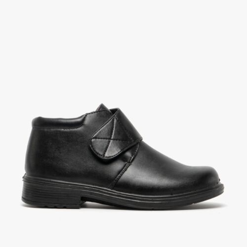 Shuperb DERRICK Mens Autumn Outdoor Casual Easy Touch Fasten Ankle Boots Black