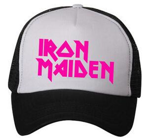 Iron Maiden (snapback trucker hat) ~ (Adjustable) ~ NWOT~ PINK LOGO ... a54e80870a8