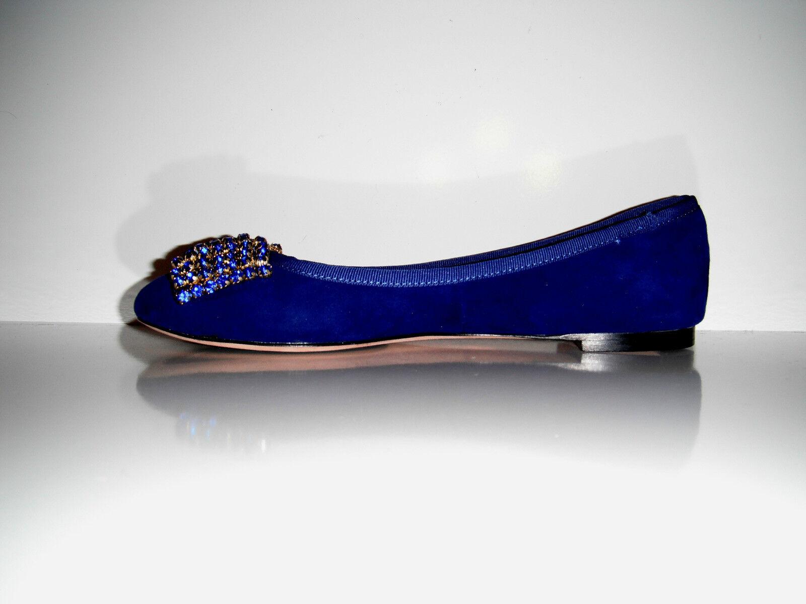 $210 mujeres Nuevo en Caja Isola para mujeres $210 Vestido Biel Blue Suede Zapatos b500ee