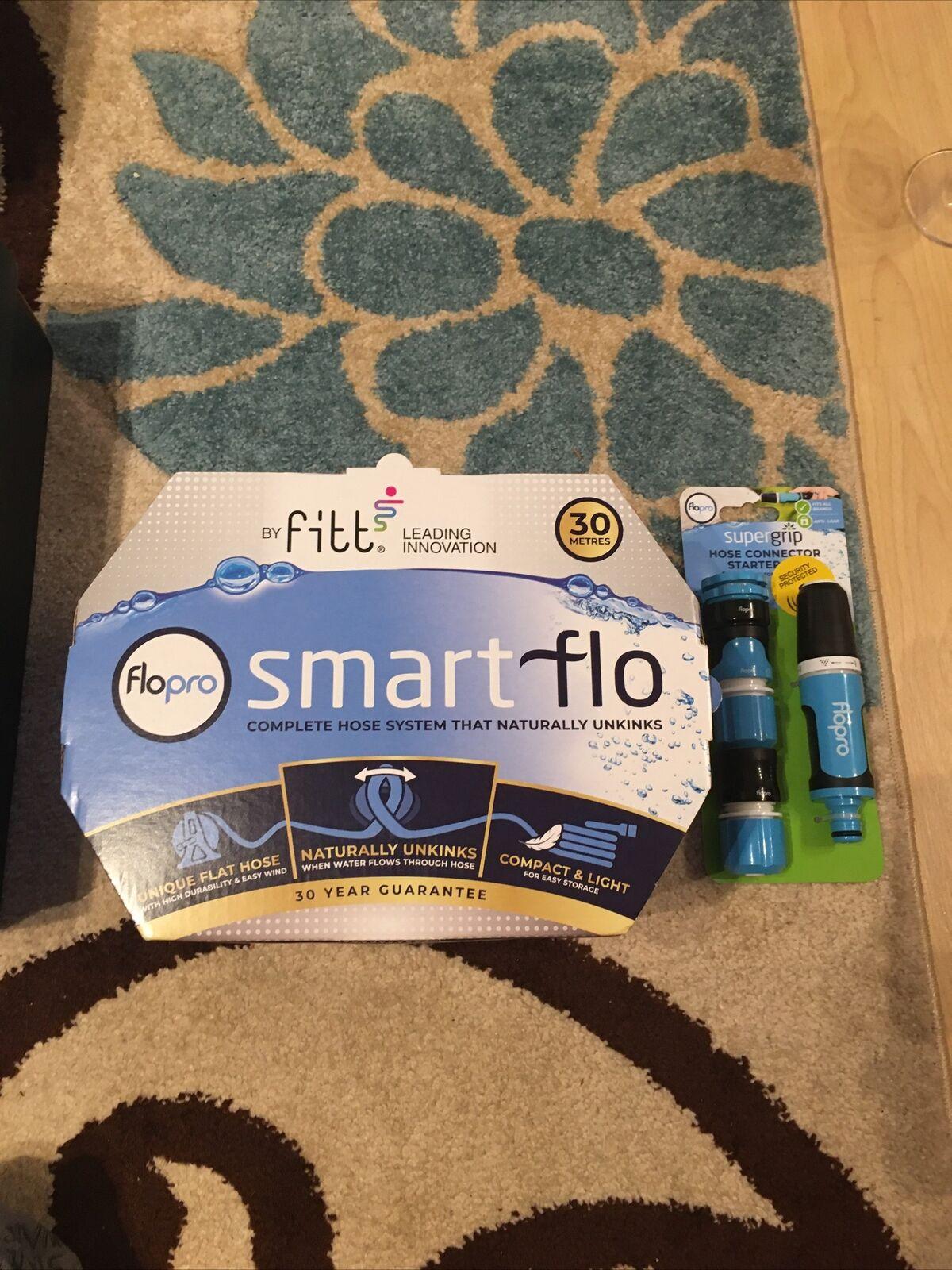 Flopro Smart Flo 30 Metre Hose And Flopro Super Grip Hose Connector Set