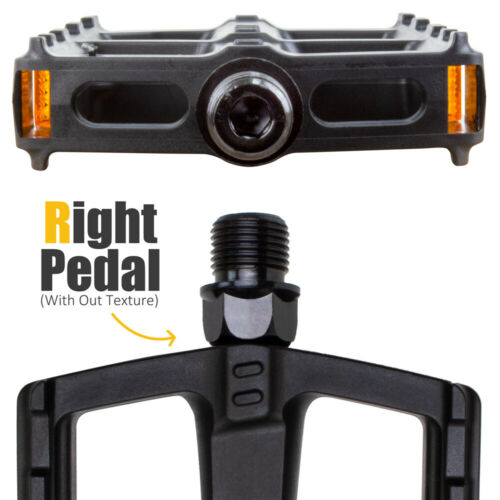 Universal Bicycle Pedals Bike Pedal Set 9//16-Inch Boron Steel Spindle BV-PD1-R