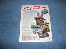 "1978 Center Line Wheels Vintage Ad ""Victory Lane...or Main Street USA"""