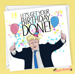 Boris Johnson Funny Birthday Card Political Birthday Card Brexit Card Her Him Ebay