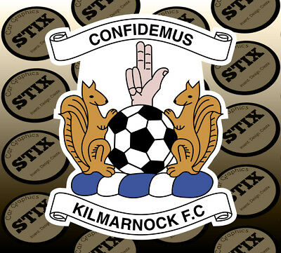 Kilmarnock FC Logo Color Die Cut Vinyl Sticker Car Window Hood Bumper Decal