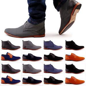 02b4d4b1cdbe Das Bild wird geladen Neu-Herren-Boots-Business -Schnuerer-Stiefeletten-726-Schuhe-