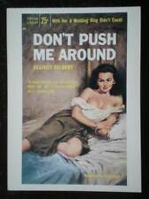 POSTCARD  HELLCAT AMAZONS - BOOK COVER - DON'T PUSH ME AROUND