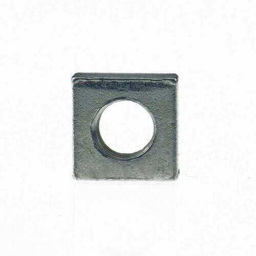 Vierkantmuttern DIN 562 04 Stahl galvanisch verzinkt niedrige Form