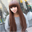 Women-039-s-Korean-Wig-Cosplay-Party-Long-Straight-Wig-Synthetic-Hair-Heat-Resistant thumbnail 3