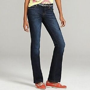 e60da2a3152 NWT Tommy Hilfiger Tommy Girl BLUE Dark Wash Boot Cut Jeans Denim ...