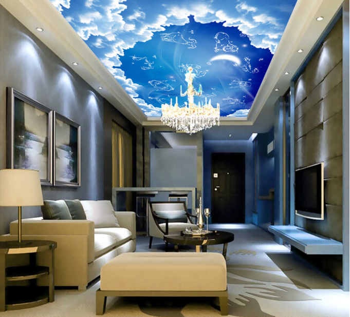 3D Constellatory Sky 7 Ceiling Wall Paper Print Wall Indoor Wall Murals CA Carly