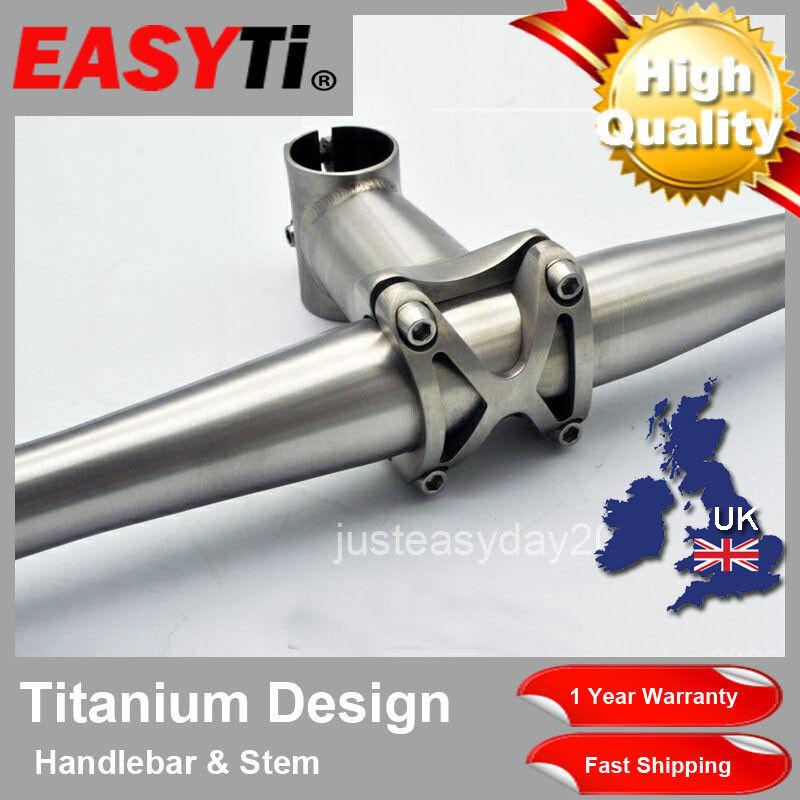 Easyti de alta calidad de mano de accesorios de bicicleta de titanio Gr9 subida Bar & Tallo Set 31.8mm
