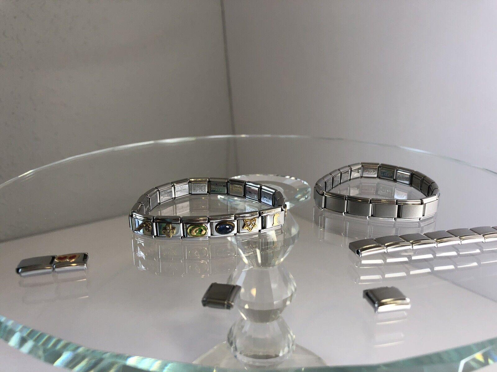 Firenze Bracelet & Charms Stainless Steel Women's Stretch Jewelry Beads