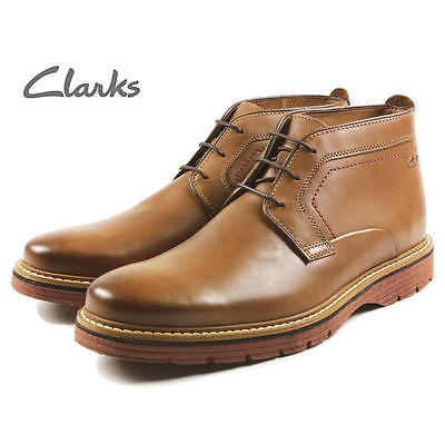 Clarks Mens TRENDY NEWKIRK TOP BOOTS TOBACCO LEATHER UK 7,8,9, 10 G | eBay