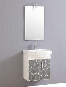 Fabulous Design Waschtisch Gäste WC mit Armatur Spiegel und Beleuchtung XJ31