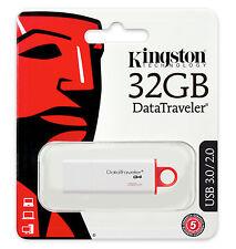 KINGSTON G4 PENDRIVE USB 3.0 32GB CHIAVETTA PENNA 32 GB CHIAVE FLASH