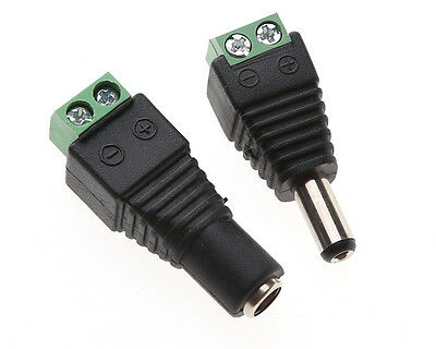 2Pcs DC Power Female to Female Jack Adapter 2.1x5.5mm Connector For CCTV Camera