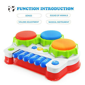 Details about Baby Musical Toy Keyboard Drum Learning Infant Educational  Toddler Developmental