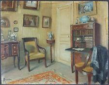 Roger-François Picquefeu (Français, XIXe-XXe) Ancien Tableau Peinture Huile