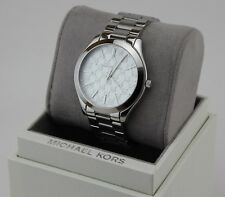 40787f205743 item 7 NEW AUTHENTIC MICHAEL KORS SLIM RUNWAY SILVER MONOGRAM MK WOMEN S  MK3371 WATCH -NEW AUTHENTIC MICHAEL KORS SLIM RUNWAY SILVER MONOGRAM MK  WOMEN S ...
