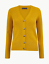BNWT M/&S Collection Mustard Ribbed Button Front Cardigan