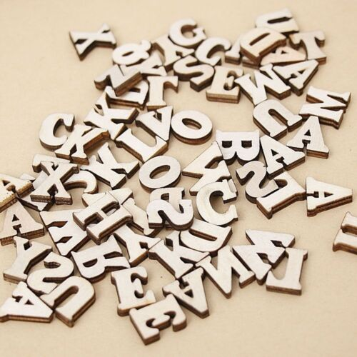 """LETTER or NUMBERS 9//16/"""" 200 Natural Wood or 100 Colored Craft Pieces 14.5mm"""