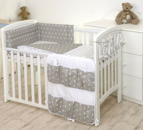 BLUE STARS BABY BEDDING SET COT COT BED 3,5,9 Pieces COVER BUMPER CANOPY+more