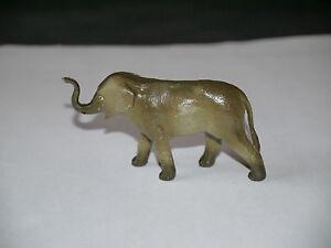 FIGURINE-STARLUX-ANIMAUX-ZOO-PETIT-ELEPHANT-D-039-ASIE-MARRON-TROMPE-RELEVEE