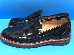Stuart-Weitzman-Manila-Patent-Black-Leather-Loafer-Women-s-Size-6-M
