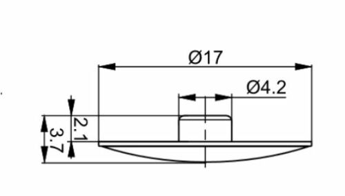 100 x Abdeckkappe weiß für Innensechskant Eckverbinder  M 4 Ø 17 mm FREI HAUS
