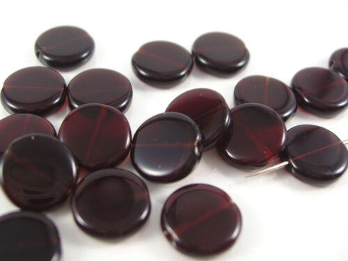 rouge foncé; * 1333 disques 10 mm 40 x Séquoia perles de verre
